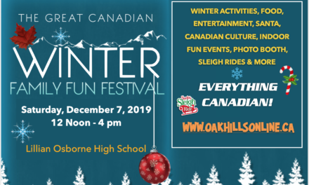 The Great Canadian Winter Family Fun Festival – December 7, 2019!